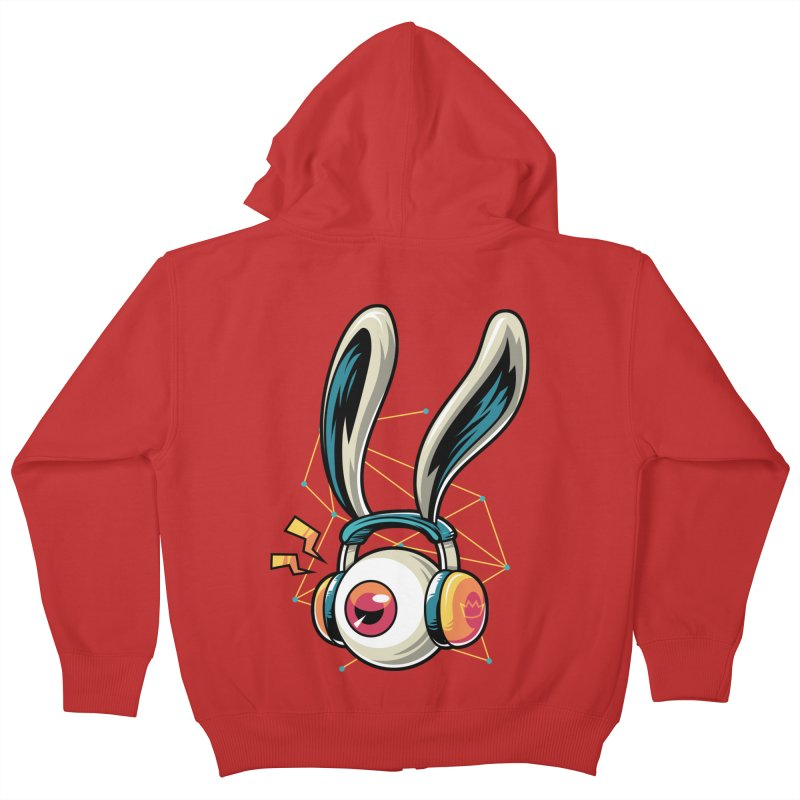 Enjoy The Beat Kids Zip-Up Hoody by anggatantama's Artist Shop