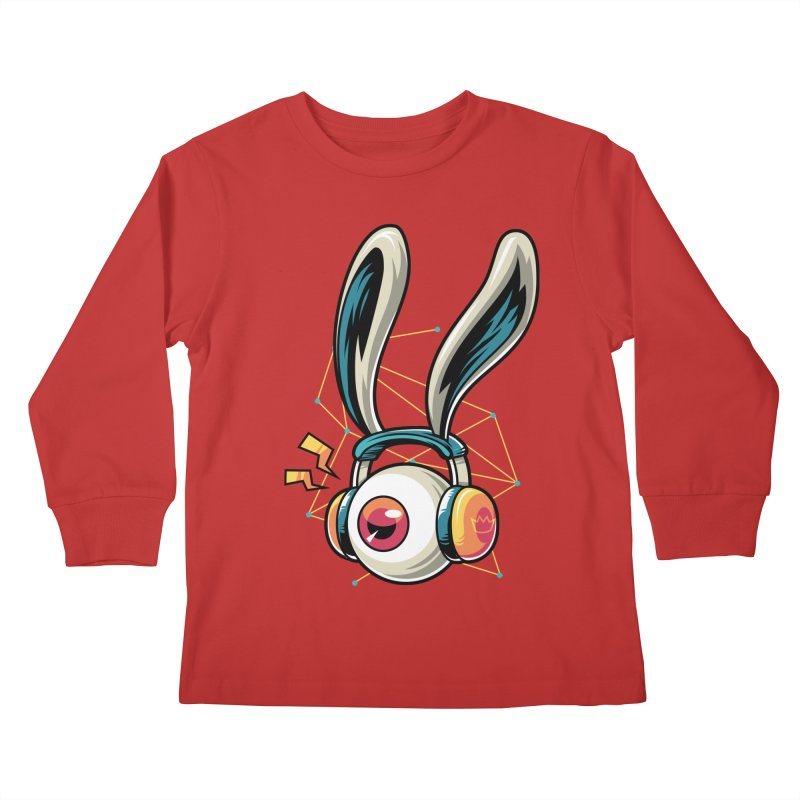 Enjoy The Beat Kids Longsleeve T-Shirt by anggatantama's Artist Shop