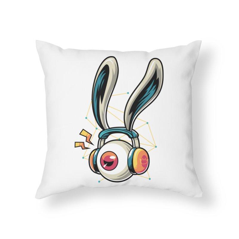 Enjoy The Beat Home Throw Pillow by anggatantama's Artist Shop