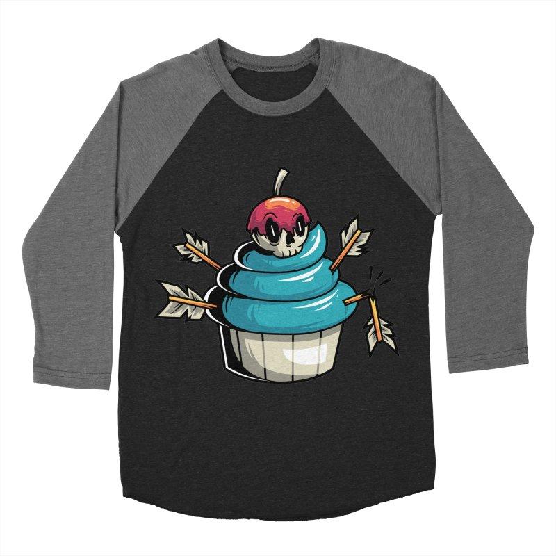 Cupcake Women's Baseball Triblend T-Shirt by anggatantama's Artist Shop
