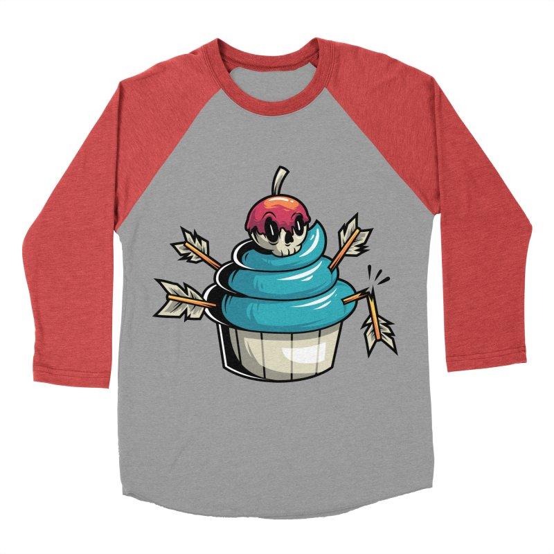 Cupcake Men's Baseball Triblend T-Shirt by anggatantama's Artist Shop