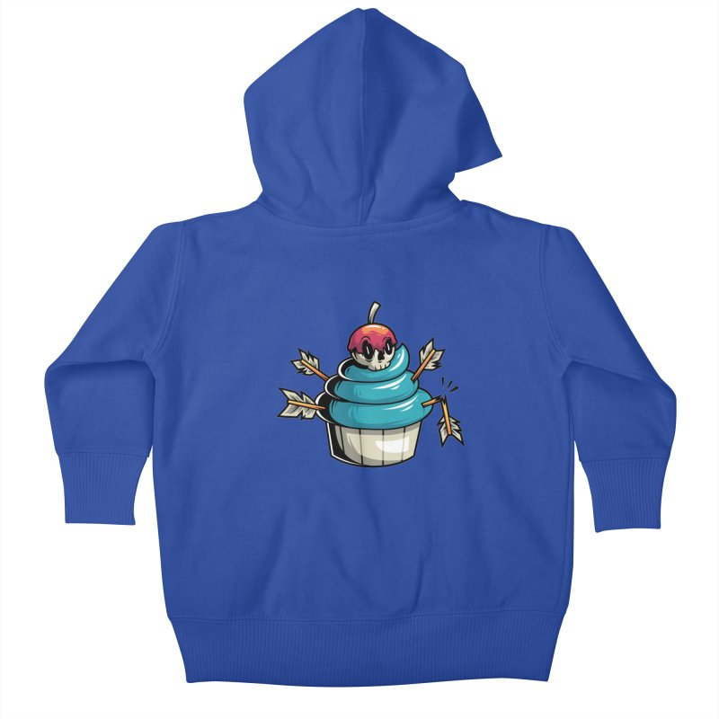 Cupcake Kids Baby Zip-Up Hoody by anggatantama's Artist Shop