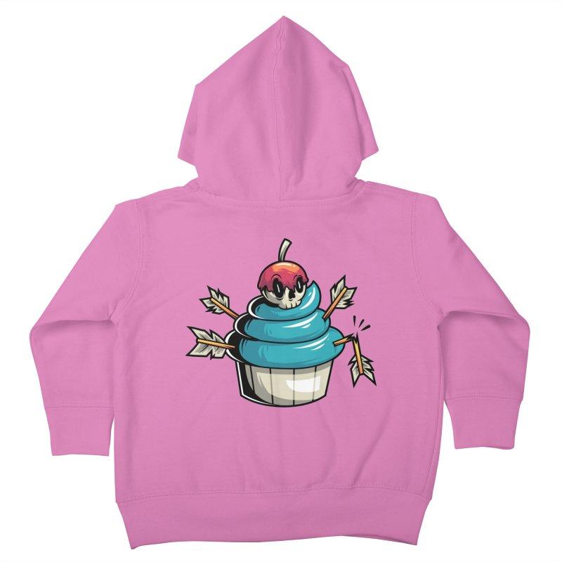 Cupcake Kids Toddler Zip-Up Hoody by anggatantama's Artist Shop