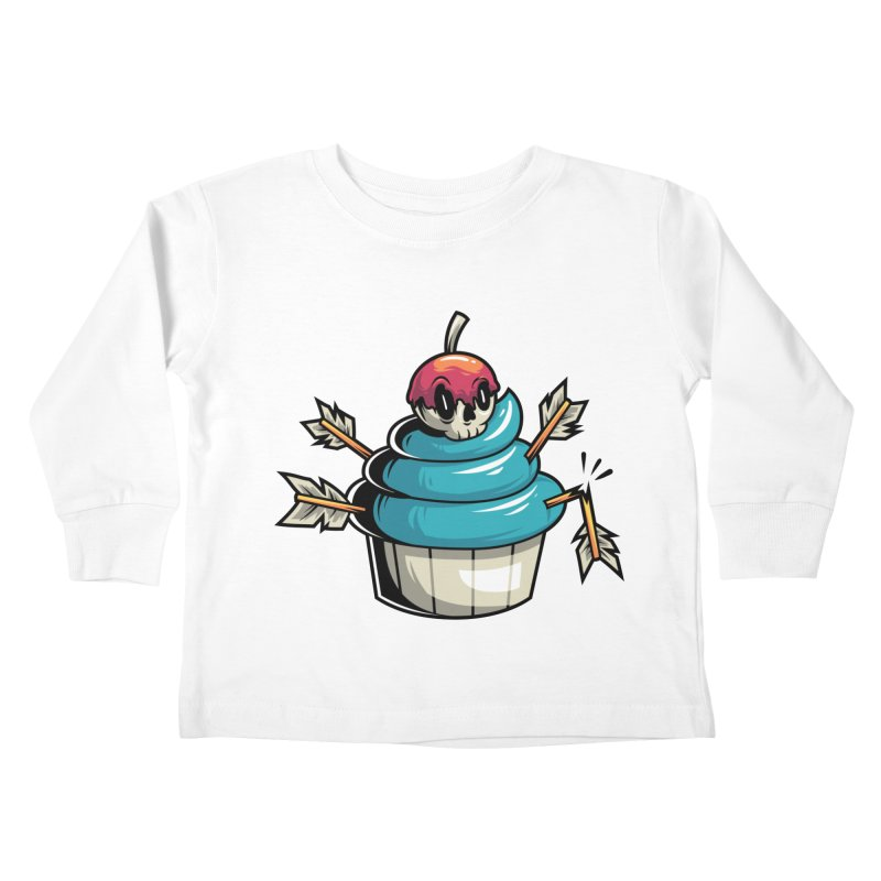 Cupcake Kids Toddler Longsleeve T-Shirt by anggatantama's Artist Shop