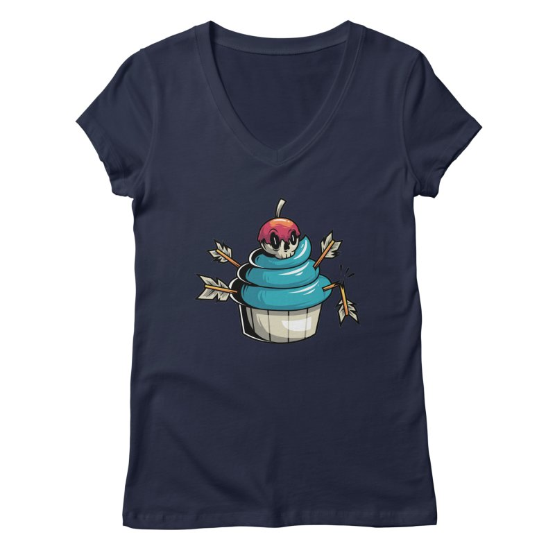 Cupcake Women's V-Neck by anggatantama's Artist Shop