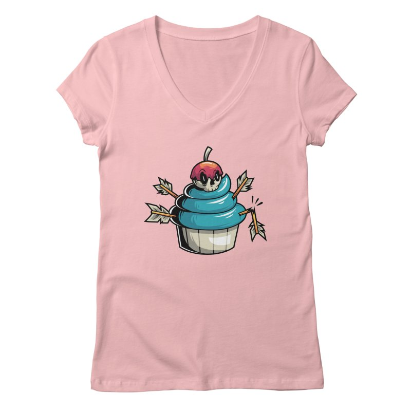 Cupcake Women's V-Neck by anggatantama's Artist Shop