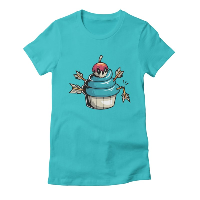Cupcake Women's Fitted T-Shirt by anggatantama's Artist Shop