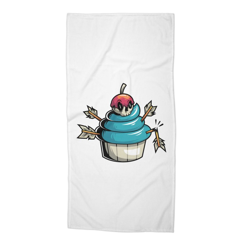 Cupcake Accessories Beach Towel by anggatantama's Artist Shop