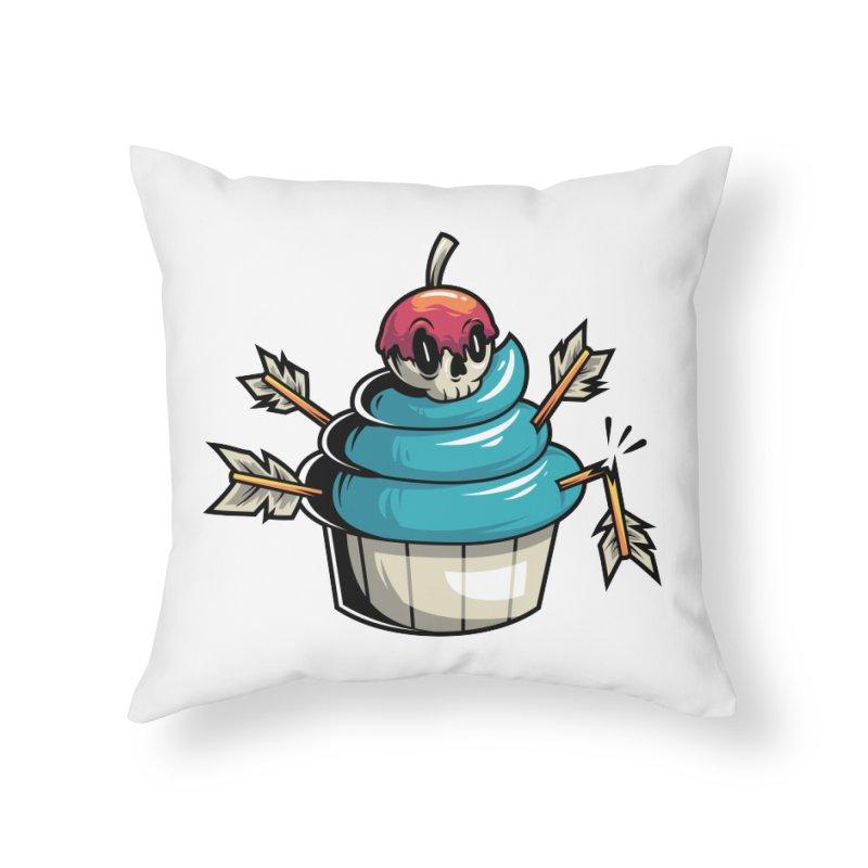 Cupcake Home Throw Pillow by anggatantama's Artist Shop