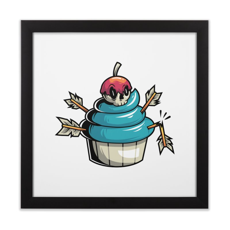 Cupcake Home Framed Fine Art Print by anggatantama's Artist Shop