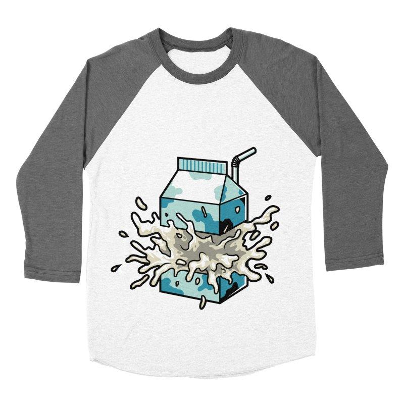 Milk Men's Baseball Triblend T-Shirt by anggatantama's Artist Shop