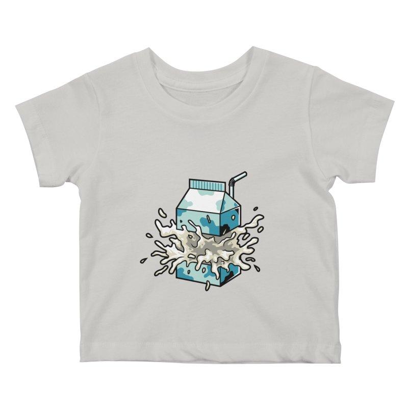 Milk Kids Baby T-Shirt by anggatantama's Artist Shop