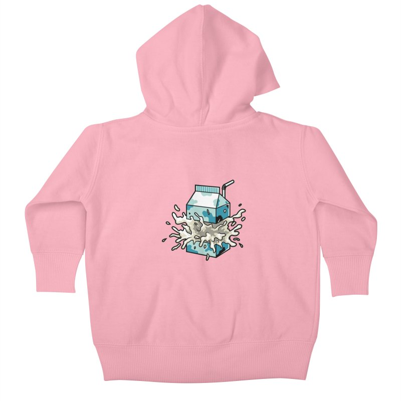 Milk Kids Baby Zip-Up Hoody by anggatantama's Artist Shop