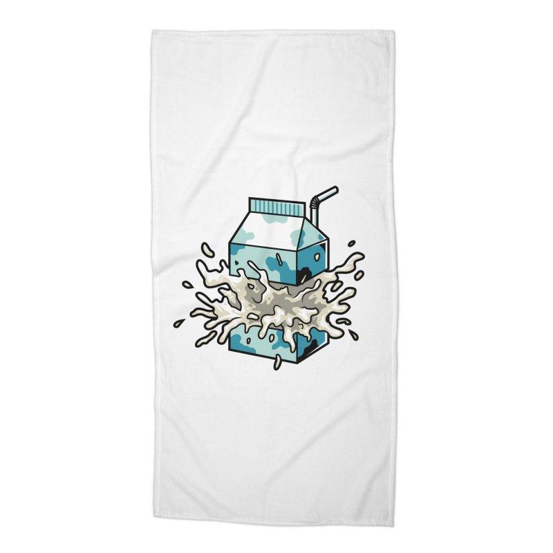 Milk Accessories Beach Towel by anggatantama's Artist Shop