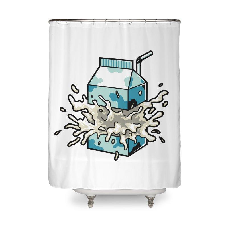 Milk Home Shower Curtain by anggatantama's Artist Shop