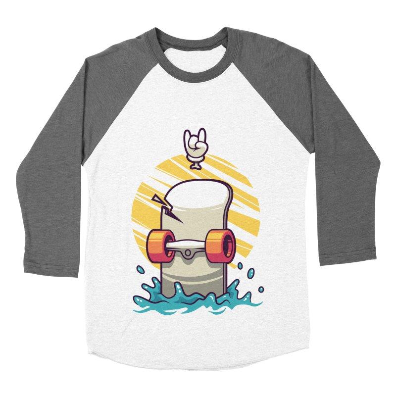 Skate Men's Baseball Triblend T-Shirt by anggatantama's Artist Shop