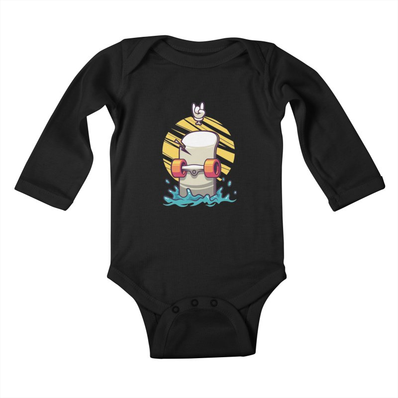 Skate Kids Baby Longsleeve Bodysuit by anggatantama's Artist Shop