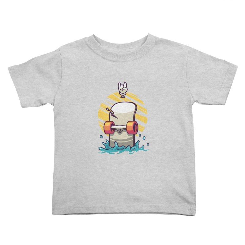 Skate Kids Toddler T-Shirt by anggatantama's Artist Shop