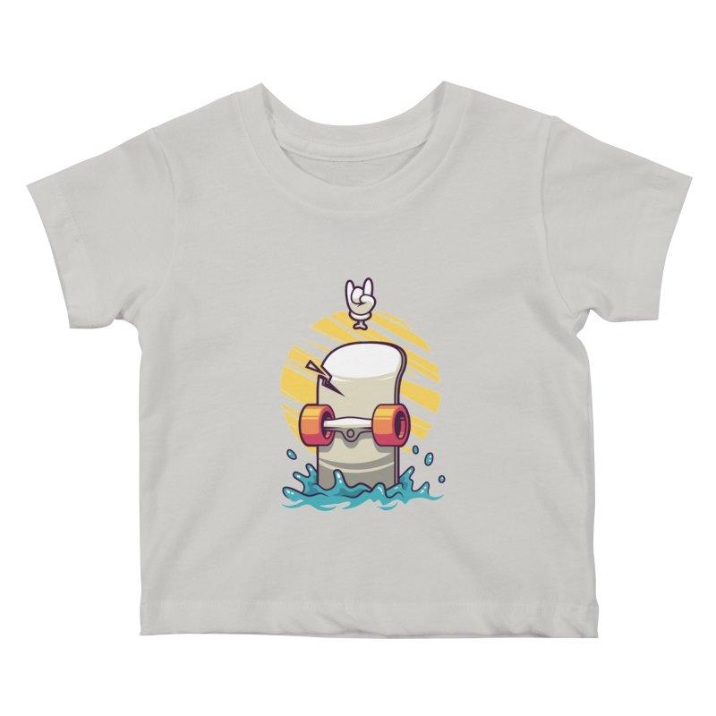 Skate Kids Baby T-Shirt by anggatantama's Artist Shop