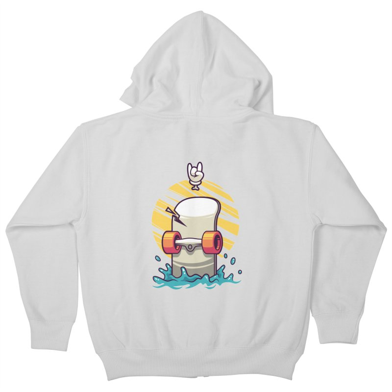 Skate Kids Zip-Up Hoody by anggatantama's Artist Shop