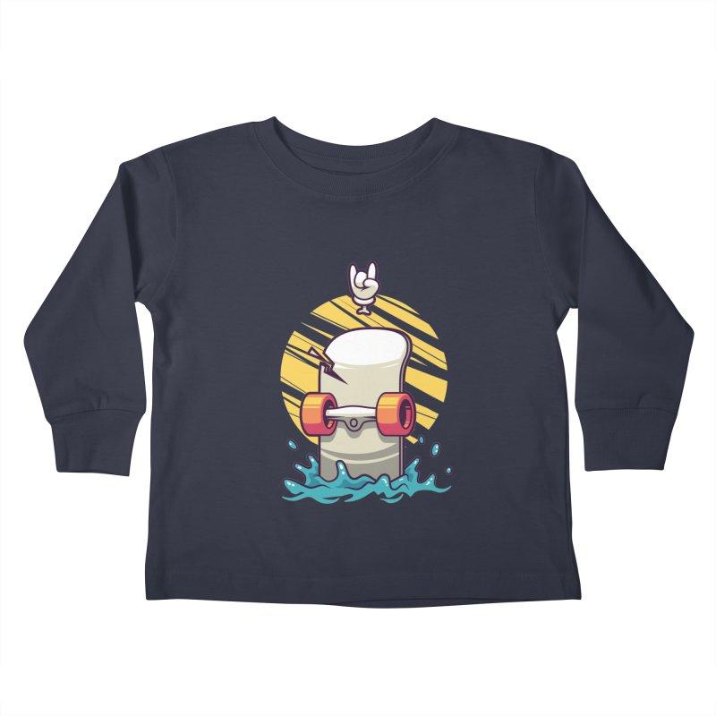 Skate Kids Toddler Longsleeve T-Shirt by anggatantama's Artist Shop