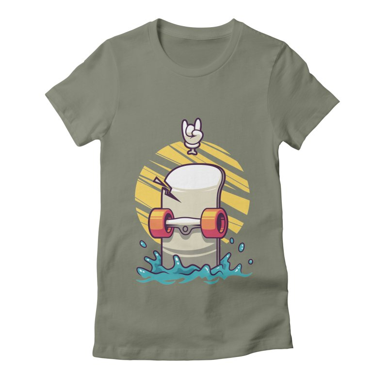 Skate Women's Fitted T-Shirt by anggatantama's Artist Shop