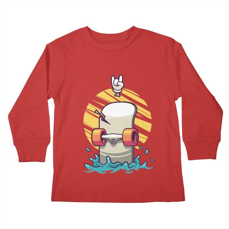 Skate Kids Longsleeve T-Shirt by anggatantama's Artist Shop