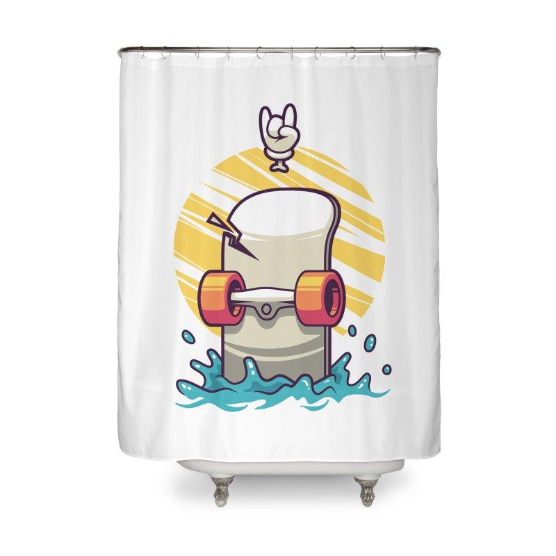 Skate Home Shower Curtain by anggatantama's Artist Shop