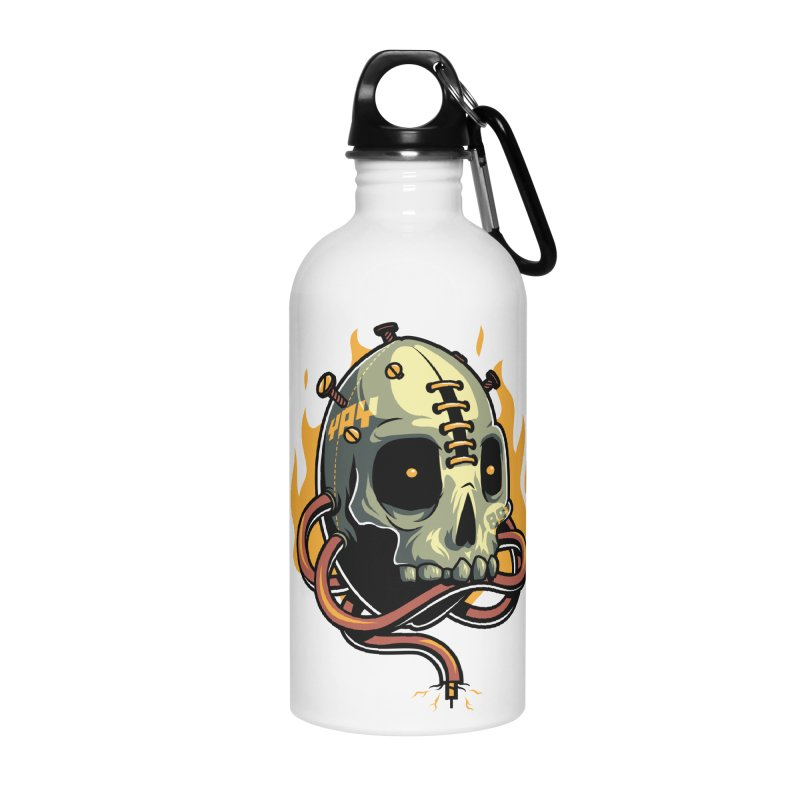 Fire Skull Accessories Water Bottle by anggatantama's Artist Shop