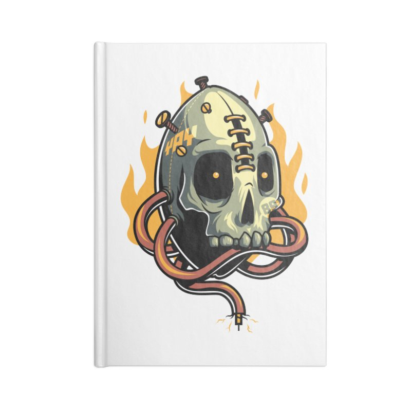 Fire Skull Accessories Notebook by anggatantama's Artist Shop