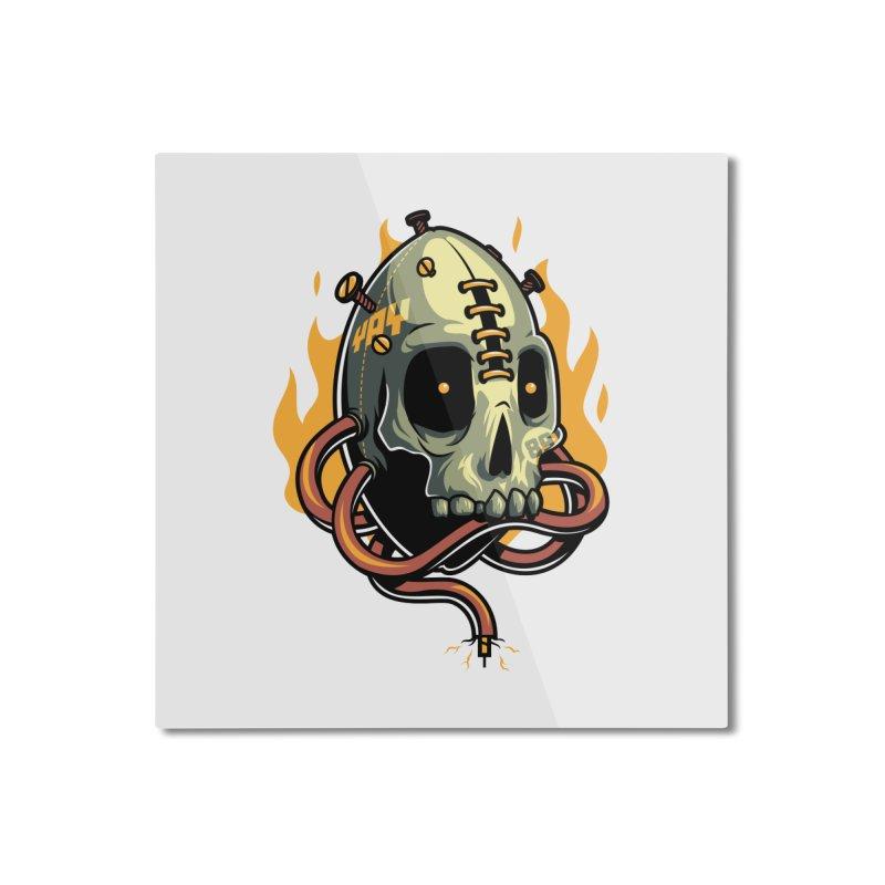 Fire Skull Home Mounted Aluminum Print by anggatantama's Artist Shop
