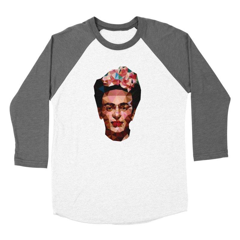 Frida Men's Baseball Triblend T-Shirt by Angie Jones