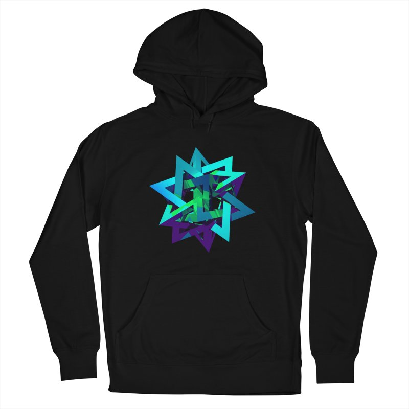 Star Tetrahedron in Women's Pullover Hoody Black by Angie Jones
