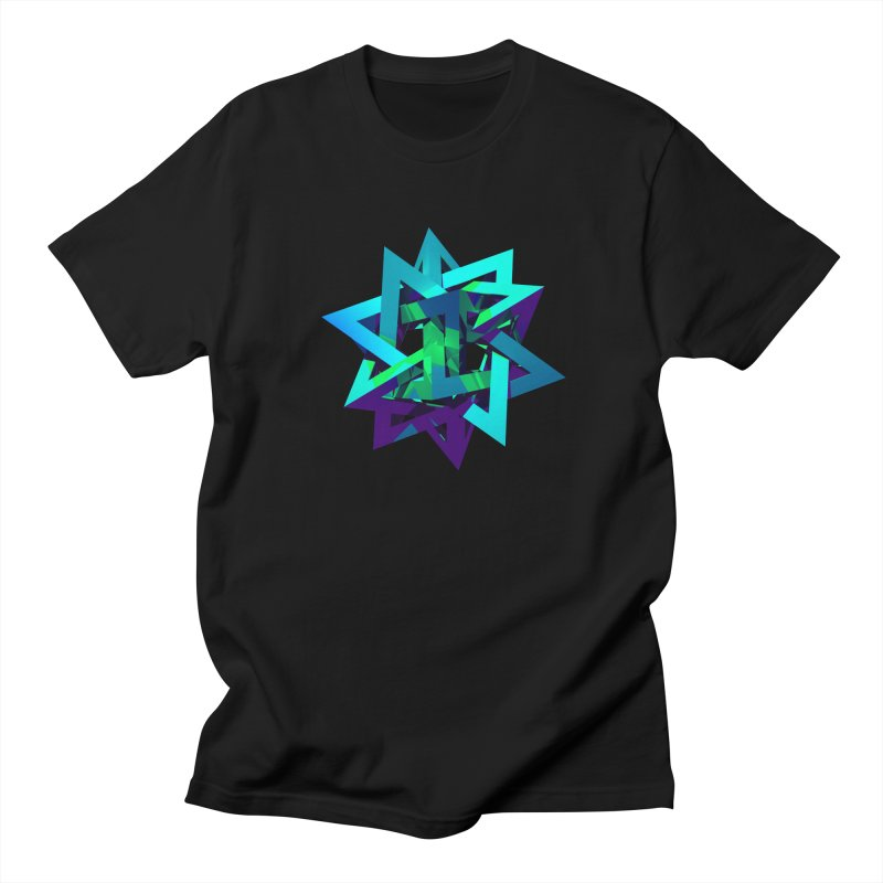 Star Tetrahedron Men's T-Shirt by Angie Jones