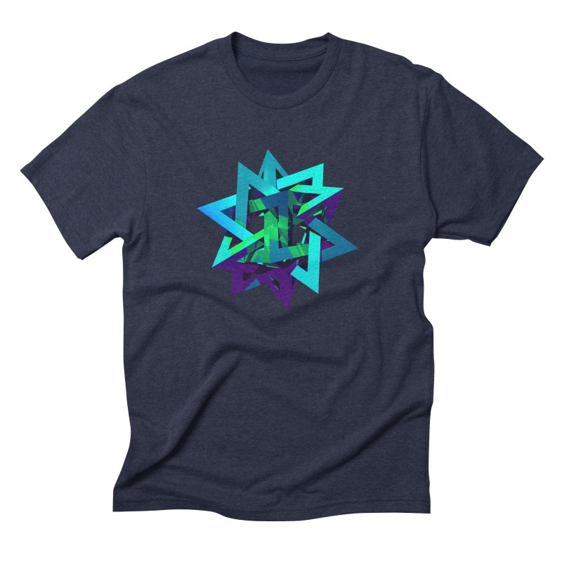 Star Tetrahedron Men's Triblend T-shirt by Angie Jones