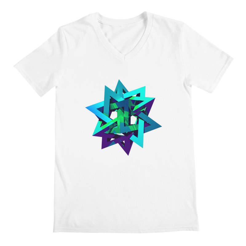 Star Tetrahedron Men's V-Neck by Angie Jones