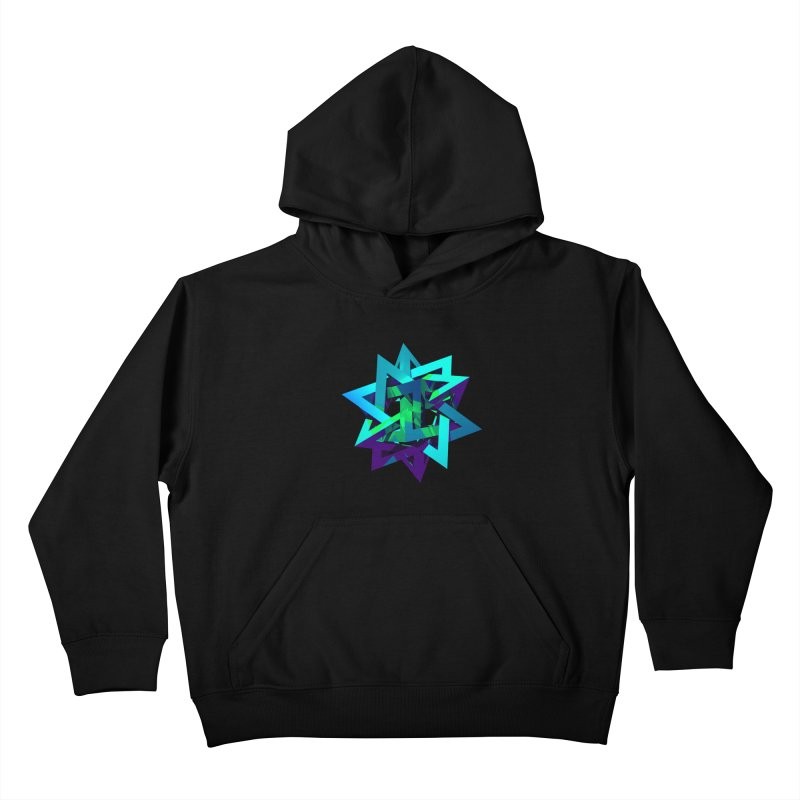 Star Tetrahedron Kids Pullover Hoody by Angie Jones