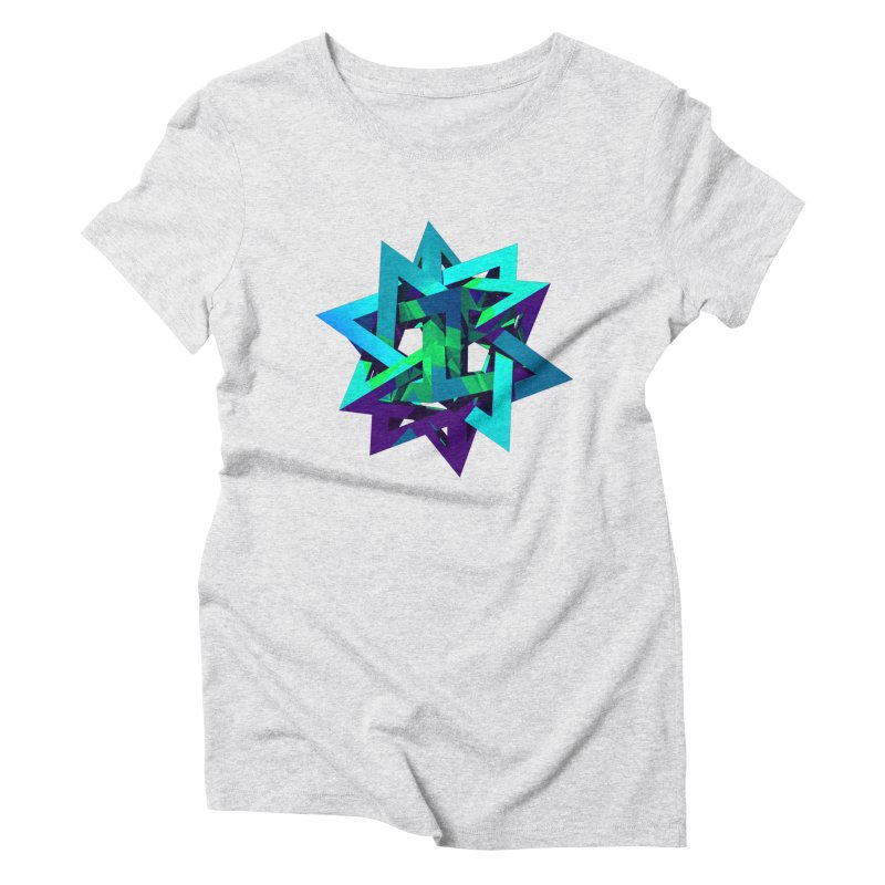 Star Tetrahedron Women's Triblend T-shirt by Angie Jones