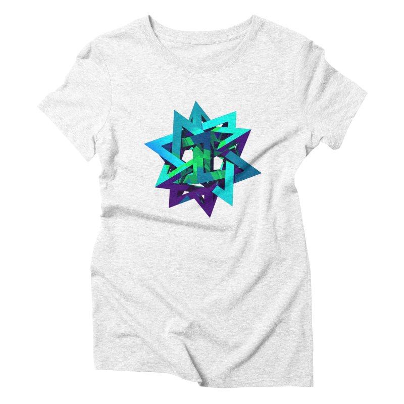 Star Tetrahedron Women's Triblend T-shirt by Angie Jones