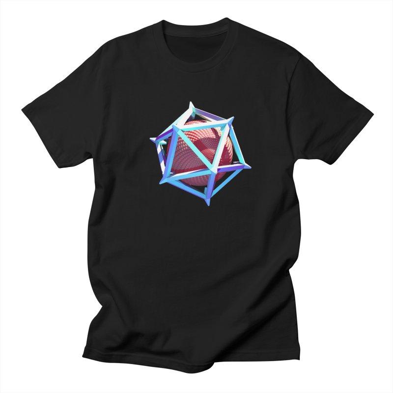 Hollow Icosahedron Men's T-Shirt by Angie Jones