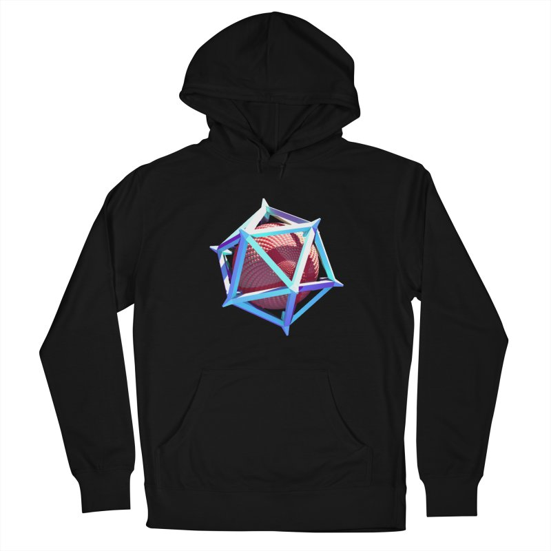 Hollow Icosahedron Men's Pullover Hoody by Angie Jones