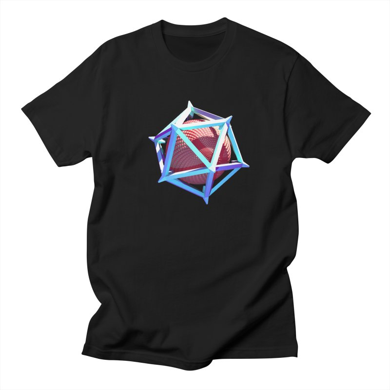 Hollow Icosahedron Men's T-shirt by Angie Jones