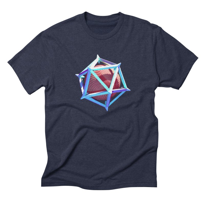 Hollow Icosahedron Men's Triblend T-shirt by Angie Jones