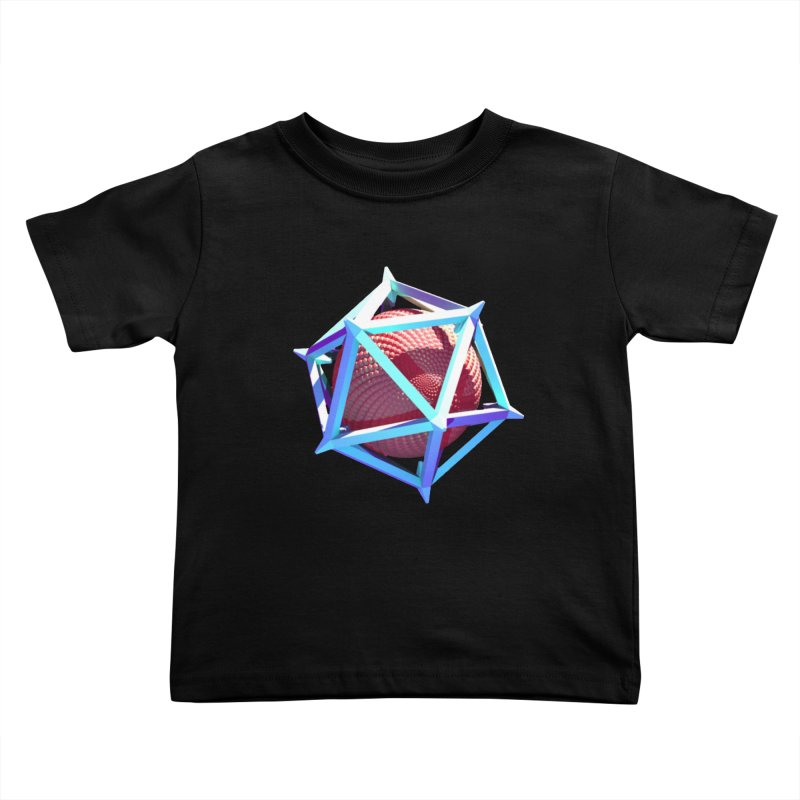 Hollow Icosahedron Kids Toddler T-Shirt by Angie Jones