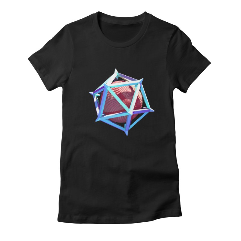 Hollow Icosahedron Women's French Terry Pullover Hoody by Angie Jones