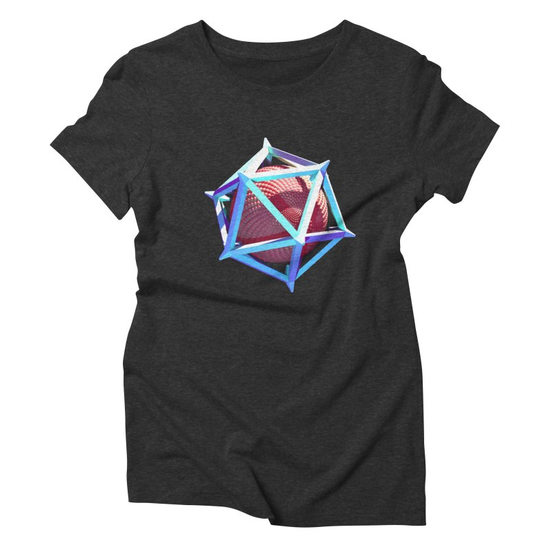 Hollow Icosahedron Women's Triblend T-shirt by Angie Jones