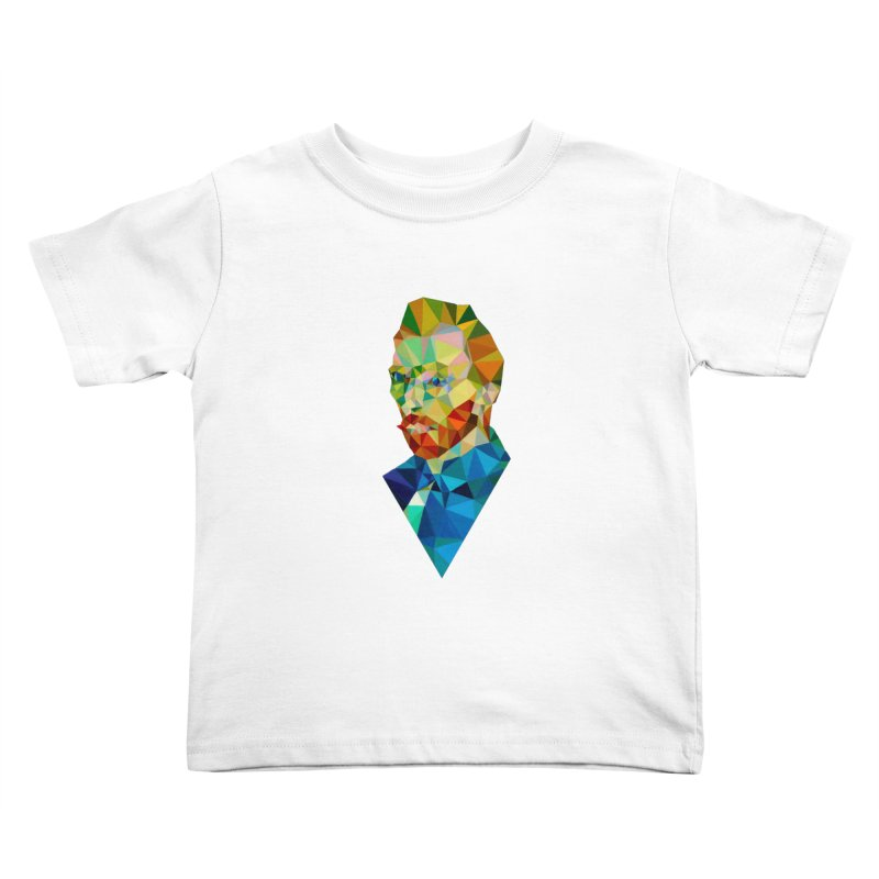 Meneer van Gogh in Kids Toddler T-Shirt White by Angie Jones