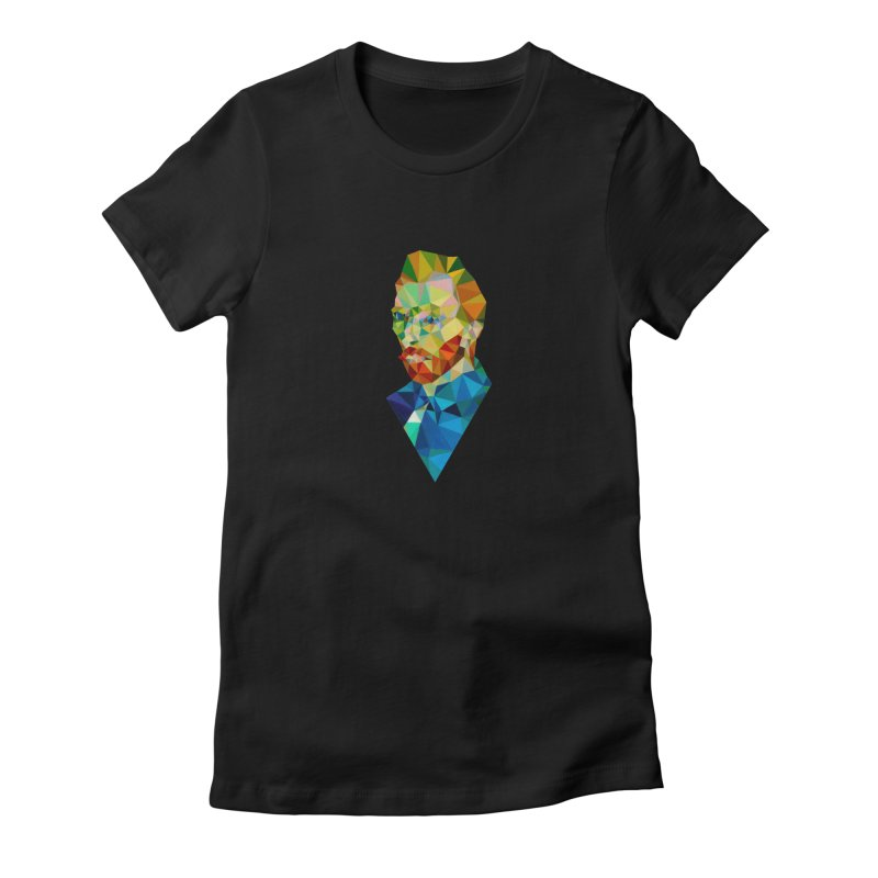 Meneer van Gogh Women's Fitted T-Shirt by Angie Jones