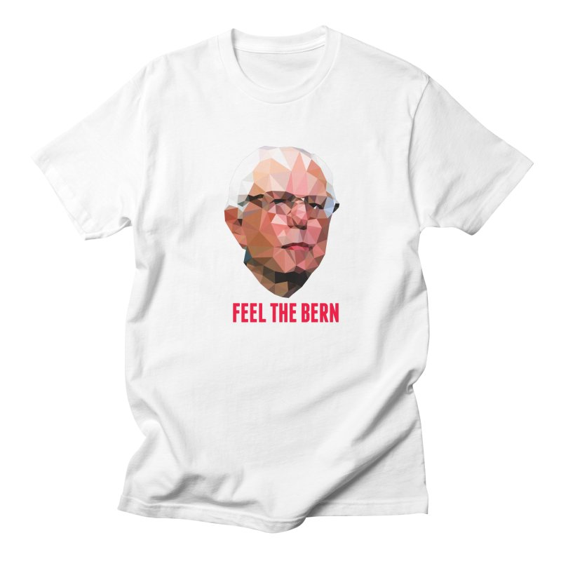 Bernie in Men's T-Shirt White by Angie Jones