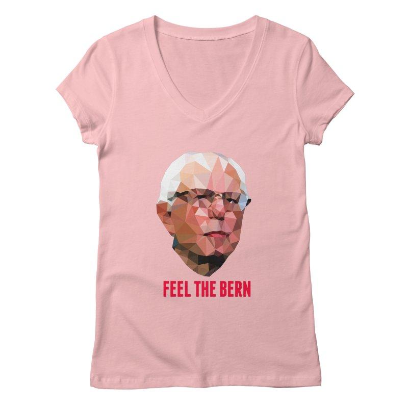 Bernie Women's V-Neck by Angie Jones
